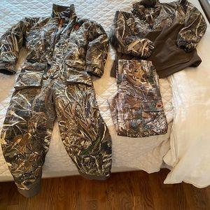 Drake hunting jacket,one piece camouflage, pants